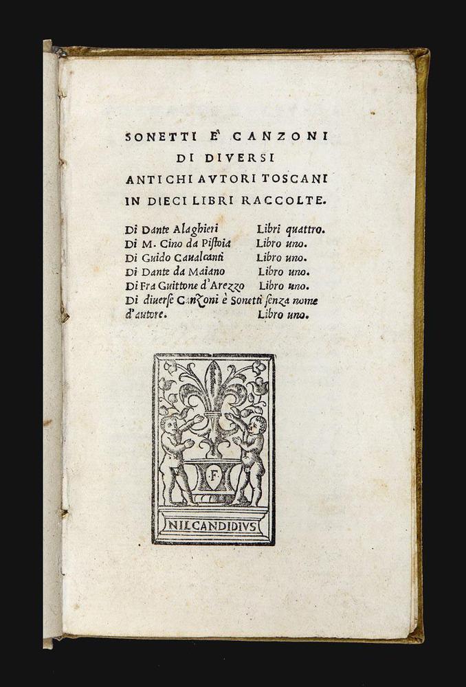 Sonetti e canzoni (Italian Edition)